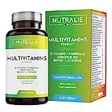 Multivitamin-Kapseln 29 Essentielle Nährstoffe Vegan | Vitamine A, B, C, D, E, K, Biotin, L-Cystein, Coenzym Q10 und 9 Mineralstoffe | Multivitamin-Komplex 60 Kapseln | Nutralie