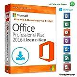 MS Office 2016 Professional Plus LIZENZ KEY - POSTBRIEF-VERSAND - 32 / 64 Bit - 1 Aktivierung / 1 PC + Anleitung von U-S-B Unleashed-Shop-Bolt®