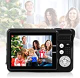 Digitalkamera, Foto Kamera Digital 2,7 Zoll 18 MP HD Mini Digitalkameras mit 8X Digitalzoom Digital Kameras Geschenk Fotokamera Digital Kompaktkameras für Kinder Erwachsene (Schwarz)