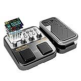 Asmuse™NUX MG 100 Elektrische Gitarren Multieffekte Professionel Multi Effekt Pedal Prozessor Looper EFX Amp EQ Mixer Instrument Bass Westerngitarre mit Netzteil Tragbare (EU Plug)