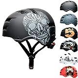 Skullcap® BMX Helm – Skaterhelm Totenkopf – Fahrradhelm – Herren Damen Jungs & Kinderhelm, schwarz, Gr. M (55-58 cm), Skull