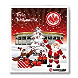 Premium Schoko-Adventskalender – Der lustige Weihnachts-Countdown aus Fairtrade-Kakao + Mannschaftsposter/Fanposter (200 g) (SG Eintracht Frankfurt)