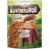 PURINA AdVENTuROS Sticks Hundeleckerli fettarm, Hundesnack mit Büffelgeschmack, 6er Pack (6 x 120g)