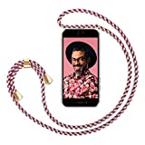 ZhinkArts Handykette kompatibel mit Apple iPhone 6 / 6S - Smartphone Necklace Hülle mit Band - Handyhülle Case mit Kette zum umhängen in Bordeaux/Rot Camouflage