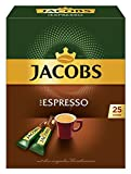 Jacobs löslicher Kaffee Espresso, 25 Instant Kaffee Sticks, 1 x 25 Getränke