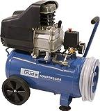Güde 50127 260/10/24 ST Kompressor-Set (2 Manometer, 1 DL-Kupplung, 24l kessel, 10 bar, 7,5m Schlauch)