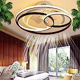 Deckenventilator Mit Beleuchtung LED Deckenleuchte Dimmbar Fernbedienung Kreative Leise Fan Schlafzimmer Deckenlampe Moderne Unsichtbare Ventilator Deckenlicht Wohnzimmer Kinderzimmer Esszimmer