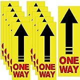 15 Stücke Einweg Boden Schild Einweg Abziehbilder Richtungspfeile Zeichen Richtung Bodenaufkleber Aufkleber rutschfeste Pfeil Boden Aufkleber für Haus Büro Geschäft Restaurant, 4 x 12,6 Zoll