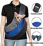DMSL Tragetuch Hund, Katze Haustier Hundetragetasche EinstellbarTräger Schulter Beutel Atmungsaktiv Mesh Transporttasche -Geeignet für Welpen unter 5 kg, 37 x 29 x25 cm
