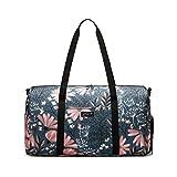 Jadyn B 22' Women's Weekender Duffel Bag with Shoe Pocket, Navy Floral