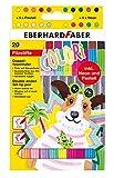 Eberhard Faber 550020 Doppelfasermaler mit Dicker und dünner Spitze, im Kartonetui, 20 Stück, Leuchtend, Brillante Farben, zum Malen, Zeichnen, Illustrieren, Kolorieren, Basteln und Schreiben