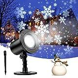 RUNACC Snowflake LED Projector Projektorlampe Außen Projektor Weihnachten Outdoor Snowflake Rotating Projector Snowflake Projektor Wasserdichte Weihnachten Licht Projektor für Outdoor und Innen Deko