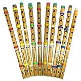 Flöten 10er Pack indische Bambusflöte Blockflöte Musikinstrument Blasinstrument