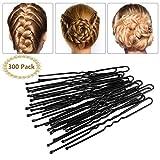 Brautschmuck Haarnadeln - 300pcs Bobby Pins Haarnadeln Schwarz Haarklammern Haarschmuck für Mädchen und Frauen