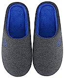 Mishansha Herren Damen Winter Hausschuhe Memory Foam Warm Leicht rutschfeste Indoor & Outdoor Pantoffeln mit Harte Sohle für Frauen Männer(Grau, 38/39 (Herstellergröße 270 mm))