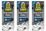 Compo Ungeziefer-Köder 3x2 Stück - Köderdose gegen Küchenschaben, Asseln, Silberfische, Spinnen usw.