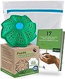 PandaBaw® Öko Waschball [TÜV GEPRÜFT] mit gratis Wäschenetz - Waschen ohne Waschmittel - Waschkugel für Waschmaschine - Bio Waschmittel Allergiker - Nachhaltige Produkte - 3in1 Wäscheball Set