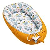 Solvera_Ltd Babynest 2seitig Kokon öko Babybett Nestchen für Neugeborene 100% Baumwolle Kuschelnest Weiches und sicheres Baby-Reisebett (50x90) (Autos)