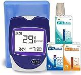 WYZXR 3-in-1-Blutzuckermessgerät, Home-Blutzucker-, Cholesterin- und Harnsäuretester