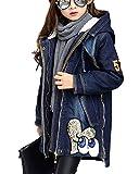GladiolusA Kinder Mädchen Jeans Jacke Denim Blouson Übergangsjacke Mantel Outwear Trenchcoat Lange Windjacke Dick 140CM