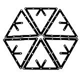 SODIAL(R) Magische Rack 6 STK. Magische Rack Billard Dreieck Triangel Queue Zubehoer schwarz 8,9 und 10 Ball