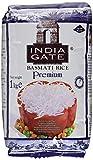INDIA GATE Premium Basmati Rice (aus Indien, feines Langkorn) aromatisch, 1er Pack (1 x 1kg)