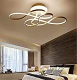 LED Deckenleuchte Dimmbar Wohnzimmerlampe Deckenlampe 54W Modern Aluminium Material Acryl Lampenschirm Designer Lampen 3000K-6500K Fernbedienung Licht Helligkeit Einstellbar Schlafzimmer Lampe (Gold)