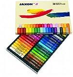 Honsell 47436 - Jaxon Ölpastellkreide, 36er Set im Kartonetui, brillante, lichtechte Farben, ideal für Künstler, Hobbymaler, Kinder, Schule, Kunstunterricht, frei von Schadstoffen