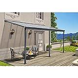 Home Deluxe - Terrassenüberdachung anthrazit - Maße: 557 x 303 x 226/278 cm - Inkl. komplettem Zubehör - verschiedene Größen