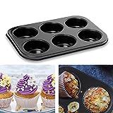 meleg otthon Mini-Muffinform, für 6 Muffins, Standardgröße Antihaftbeschichtet Muffinform (6 Muffins)
