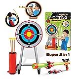 WEIZQ Pfeil und Bogen Set Kinder Spielzeug Bogen Bogenschießen mit Zielscheibe Outdoor Bogenschießen