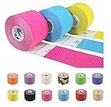Tapefactory24 5 Rollen Kinesiologie Tape FREIE Farbwahl - 12 Farben zur Auswahl   oder 5 Rollen Kinesio® TexClassic Tape von Dr. Kenzo