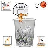 KrockaZone - Mini Basketballkorb für den Mülleimer/Papierkorb mit kleinem Ball - Spaß fürs Zimmer/ Büro/ Zuhause/ Kinderzimmer/ Bad