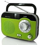 Soundmaster TR410GR tragbares Radio mit Teleskopantenne und Kopfhörerbuchse