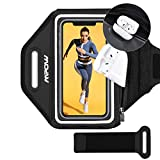 Mpow Sportarmband Handy Laufarmband für iPhone bis zu 6,8 Zoll Vollbildgröße, Sicheres Verstellbares Armband mit Erhöhtem Speicherplatz für Kopfhörer, Schlüsselbund, beim Laufen, Joggen, Wandern