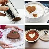 Gazechimp Edelstahl Dekorierstreuer Schokolade Kakao Kakaostreuer