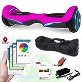Balance Scooter Vision 800 Watt mit App Funktion, beleuchtete Felgen mit RGB-LED Farbwechsel, Bluetooth Lautsprecher, Kinder Sicherheitsmodus Elektro Self Balance E-Scooter (pink)