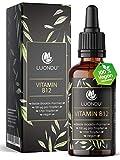 Vitamin B12 Tropfen 100 µg - 50ml Vegan (1700 Tropfen) B12 Vitamin beiden Aktivformen Adenosyl- & Methylcobalamin I Alternative zu B12 Tabletten & Kapseln, Hergestellt in DE