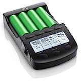 CSL - Power Akku Ladegerät - Universale Akku Ladestation Intelligent Battery Charger - - beleuchtetes LCD-Display Auto Light Off - inkl. 1x USB-Ladeport - Batterie-Verpolungsschutz