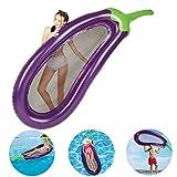 upstartech Aufblasbarer Pool Schwimmnudel luftmatratze mit netz wasserhängematte schwimmmatratze Aufblasbare Schwimmer Hängematte Pool Schwimmendes Floß PVC/lila
