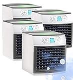 Sichler Haushaltsgeräte Mobile Mini Klimaanlage: 4er-Set 2in1-Tisch-Luftkühler und -Luftbefeuchter LW-110 (Camping-Luftkühler)