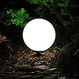 Dapo Garten-Kugel-Leuchte-Lampe Marlon 40cm Außen-Dekorations-Boden-Terrassen-Balkon-Blumentopf-Blumenbeet-Teichrand-Treppen-Wege-Pool-Eingangs-Leuchte-Lampe