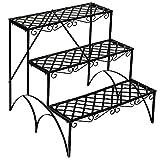 TecTake Pflanzentreppe Blumenbank 3 Stufen - belastbar bis 30 kg - ca. 60x60x60cm - Diverse Modelle (Stufen gerade   Nummer 401711)