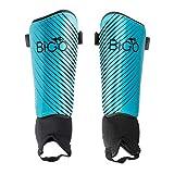 BIGO Schienbeinschoner Fußball für Erwachsene und Jugend Kinder, umfassender Schutz für Ihr Bein, mit gepolstertem Knöchelschutz zur Vermeidung von Verletzungen (S)