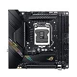 ASUS ROG Strix B460-I Gaming Mainboard Sockel 1200 (Mini-ITX, AI Networking, WiFi 6 (802.11ax), Intel 1Gbit/s-Ethernet, Zwei M.2 und SATA)