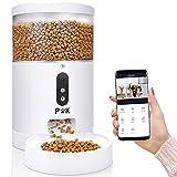 PUPPY KITTY Intelligenter Futterautomat für Katze und Hund, 4L Automatischer Futterspender mit APP Steuerung, HD-Kamera für Sprach- und Videoaufzeichnung & Fütterung, Unbegrenzte Mahlzeiten am Tag