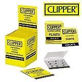 Clipper Feuersteine für Feuerzeuge, 18 Stück, geeignet für alle Arten von Feuerzeugen einschl. Sturmfeuerzeugen