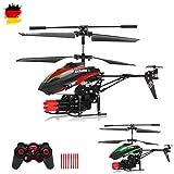 HSP Himoto 3.5 Kanal RC Ferngesteuerter Modellbau-Hubschrauber mit Schussfunktion und Gyro-Technik für Hobby-Flieger, Ready-to-Fly Heli-Modell, Komplett-Set
