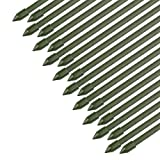 Sekey Pflanzenstäbe Gartenpflanze Unterstützung beim Wachsen von Pflanzen, Kunststoff beschichtetes Stahlrohr 8mm Durchmesser. 75 cm Lange Packung 20