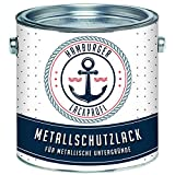 Metallschutzlack GLÄNZEND Verkehrsweiß RAL 9016 Weiß Metallschutzfarbe Metalllack Metallfarbe // Hamburger Lack-Profi (1 L)